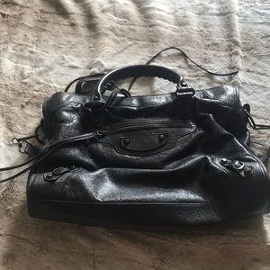 2016 Balenciaga city bag dark grey on sale 💕💋
